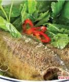 Canh cải trời nấu cá rô