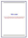 TIỂU LUẬN: Vai trò của Marketing trong việc ổn định thương hiệu kem đánh răng P/S của Unilever tại thị trường Việt