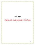 Tiểu luận: Chính sách tỷ giá hối đoái ở Việt Nam