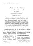 """Báo cáo """" Thuyết nhu cầu của A. Maslow với việc động viên người lao động """""""
