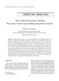 """Báo cáo """" Dịch vụ hậu cần (Logistic) Việt Nam: Thực trạng và triển vọng sau khủng hoảng kinh tế toàn cầu """""""
