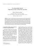 """Báo cáo """"Các thành phần kinh tế: Nhận thức lý luận và thực tiễn Việt Nam """""""