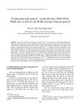 """Báo cáo """" 10 năm phát triển kinh tế - xã hội Hà Nội (2000-2010): Thành tựu và một số vấn đề đặt ra trong công tác quản lý """""""
