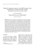 "Báo cáo "" Thailand's inadequate response to the 2008 Economic Crisis: Implications for Vietnam and other countries entering the East Asian economic model """