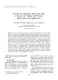 """Báo cáo """"Developing a bilateral input-output table in the case of Thailand and Vietnam: Methodology and applications """""""