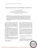"""Báo cáo """" Năng lực cạnh tranh của các doanh nghiệp cơ khí Việt Nam """""""