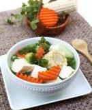 Đậu phụ nấu ngô, củ cải