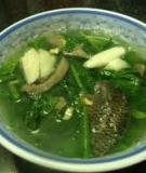 Rau cải nấu cá rô đồng