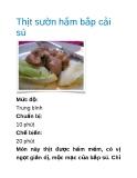 Thịt sườn hầm bắp cải sú
