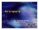 Xử lý ngoại lệ - ThS Nguyễn Hà Giang