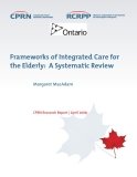 Frameworks of Integrated Care for  the Elderly:  A Systematic Review