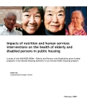 Impacts of nutrition and human services  interventions on the health of elderly and  disabled persons in public housing