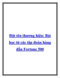 Đặt tên thương hiệu: Bài học từ các tập đoàn hàng đầu Fortune 500