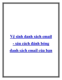 Vệ sinh danh sách email - sáu cách đánh bóng danh sách email của bạn