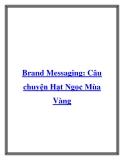 Brand Messaging: Câu chuyện Hạt Ngọc Mùa Vàng