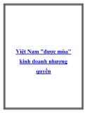 """Việt Nam """"được mùa"""" kinh doanh nhượng quyền"""