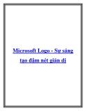 Microsoft Logo - Sự sáng tạo đậm nét giản dị