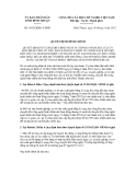 Quyết định số 1892/QĐĐC-UBND