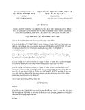 Quyết định số 726/QĐ-CHHVN