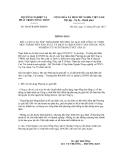 Thông báo số 4444/TB-BNN-ĐMDN
