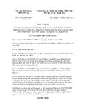 Quyết định số 17/2012/QĐ-UBND