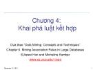 Bài giảng Nhập môn khai phá dữ liệu (PGS.TS. Hà Quang Thụy) - Chương 4: Khai phá luật kết hợp