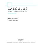stewart calculu early transcendentals 6e hq thomson 2008
