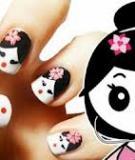 Vẽ móng búp bê Geisha ngộ nghĩnh