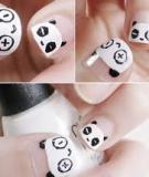 Nghịch ngợm với nail gấu trúc dễ thương