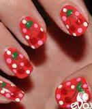 Vẽ nail họa tiết quả cherry (quả anh đào)