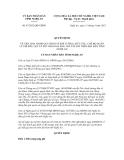 Quyết định số 67/2012/QĐ-UBND