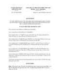 Quyết định số 1637/QĐ-UBND