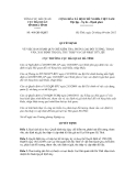 Quyết định số 460/QĐ-HQHT