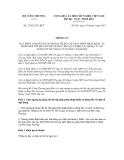 Thông tư số 27/2012/TT-BCT