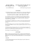 Quyết định số 2325/QĐ-BNN-HTQT
