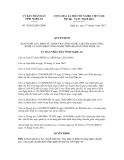 Quyết định số 70/2012/QĐ-UBND