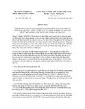 Thông báo số 4657/TB-BNN-VP