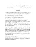 Nghị định số 69/2012/NĐ-CP