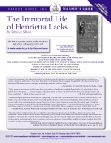 Teacher's Guide: THE IMMORTAL LIFE OF HENRIETTA LACKS by Rebecca Skloot