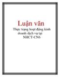 Luận văn: Thực trạng hoạt động kinh doanh dịch vụ tại NHCT-CN