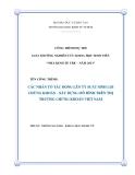 Luận văn: CÁC NHÂN TỐ TÁC ĐỘNG LÊN TỶ SUẤT SINH LỢI CHỨNG KHOÁN - XÂY DỰNG MÔ HÌNH TRÊN THỊ TRƯỜNG CHỨNG KHOÁN VIỆT NAM