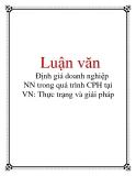 Luận văn: Định giá doanh nghiệp NN trong quá trình CPH tại VN: Thực trạng và giải pháp
