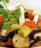 Nấm xào đậu trắng