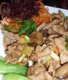 Thịt heo xào nấm cải xanh