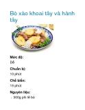 Bò xào khoai tây và hành tây