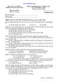 ĐỀ THI THỬ ĐẠI HỌC ĐỢT 1  TRƯỜNG THPT PHAN CHÂU TRINH 2012 MÔN SINH HỌC MÃ 159