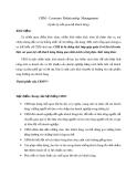 CRM - Customer Relationship Management ( Quản lý mối quan hệ khách hàng )