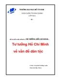 Tiểu luận : Tư tưởng Hồ Chí Minh về vấn đề dân tôc