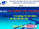 Tiểu luận đề tài: Tư tưởng Hồ Chí Minh về vấn đề dân tộc
