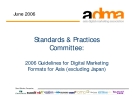 Standards & Practices Committee:2006 Guidelines for Digital Marketing Formats